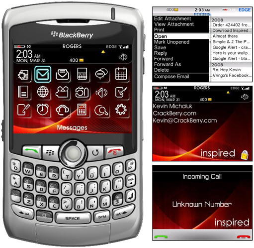 Inspired 9000 Theme for BlackBerry