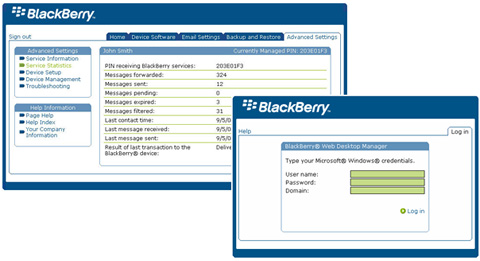 BlackBerry Web Desktop Manager