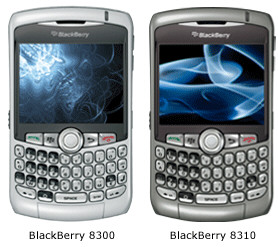 BlackBerry Curve 8300 and 8310