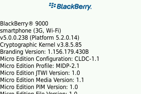 Leaked: Firmware 5.0.0.238 for BlackBerry Bold and Curve 8900