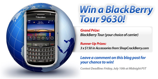 Win a BlackBerry Tour from CrackBerry.com!