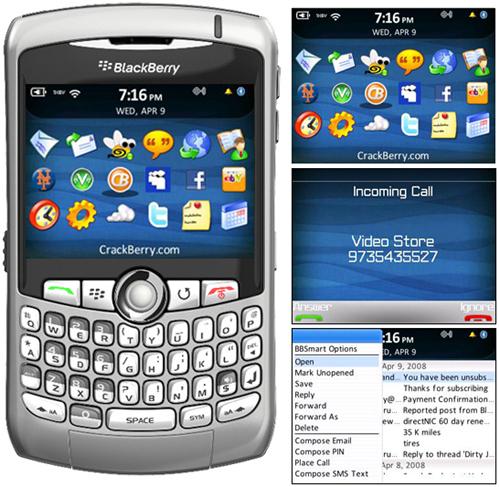 Chrono Theme for BlackBerry