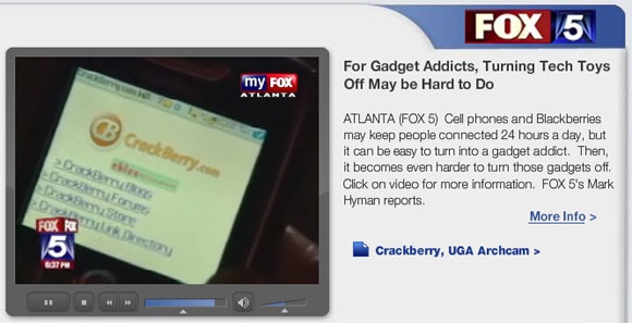 CrackBerry.com on Fox 5 News Atlanta