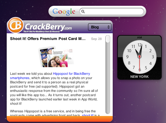 CrackBerry Widget for Mac
