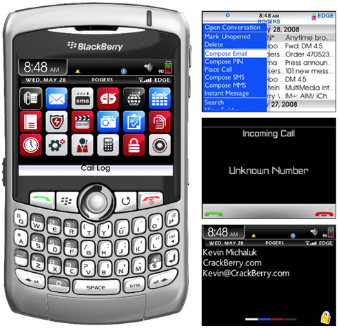 Cubis Theme for BlackBerry