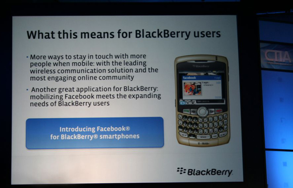 FaceBook coming to BlackBerry
