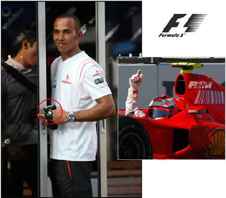 Lewis Hamilton is a BlackBerry User