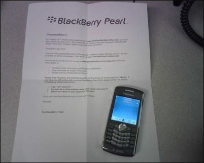 FREE BlackBerry Pearl 8120!