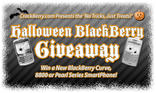 NO TRICKS, JUST TREATS Halloween BlackBerry Giveaway
