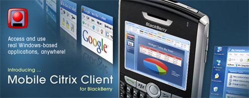Mobile Citrux Client for BlackBerry