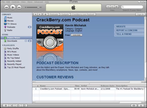 CrackBerry.com iTunes Podcast