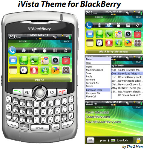 iVista Theme for BlackBerry