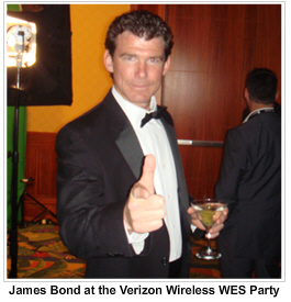 James Bond at the WES 2007 Verizon Wireless Party