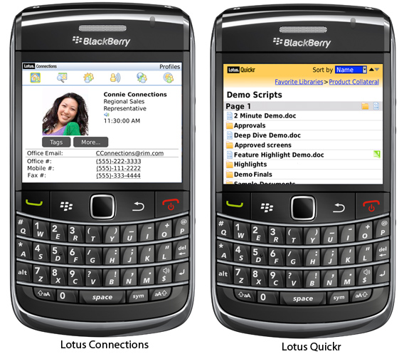 RIM Shows Off Their BlackBerry Business Collaboration Apps At Lotusphere