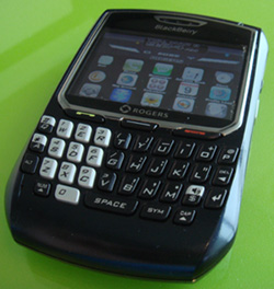 my 8700r with iBerry theme