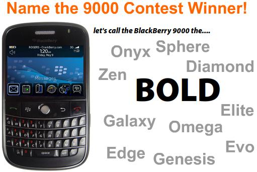 Name the BlackBerry 9000 Contest Winner