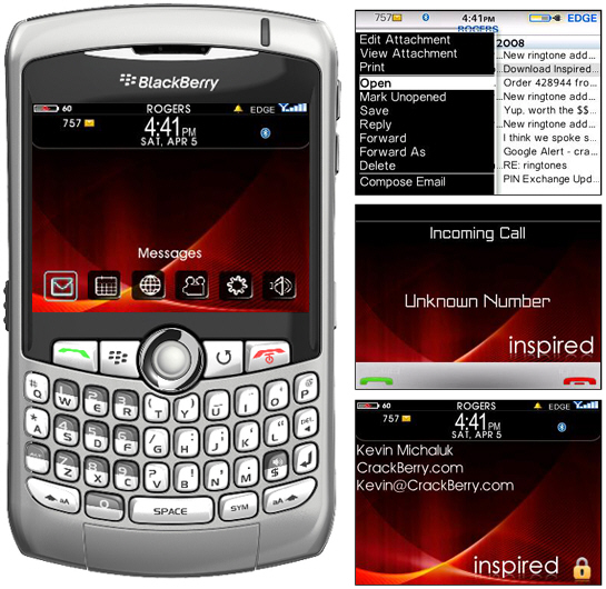 New BlackBerry 9000 Inspired Themes