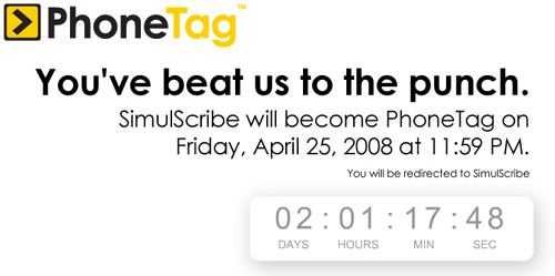 PhoneTag, the company formerly known as SimulScribe