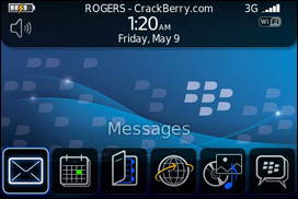 BlackBerry 9000 Zen Homescreen