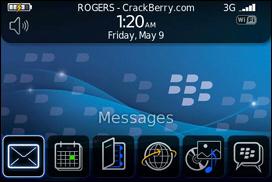 BlackBerry 9000 Zen Homescreen