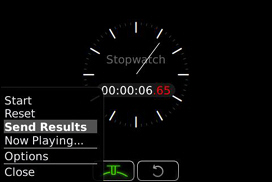 Stopwatch and Stopwatch Menu