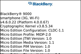 More BlackBerry 9000 Details