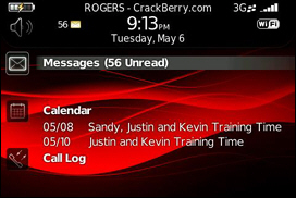 BlackBerry 9000 Precision Today Theme