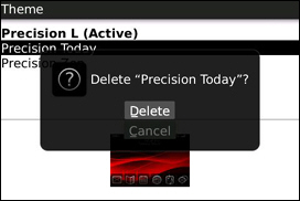 Delete Themes form the Theme Page