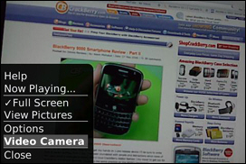 Launching the Video Camera from within the Camera App