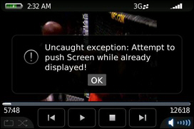 Ignore the Error Message - that's from the Screen Capture Software. Video Playback on the 9000 Works Great