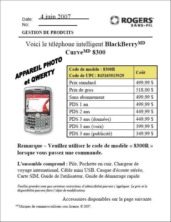 Rogers BlackBerry Curve