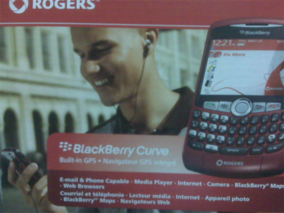 Rogers Red BlackBerry Curve 8310