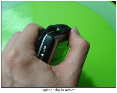 Seidio Rubberized Holster for Curve - Spring Clip