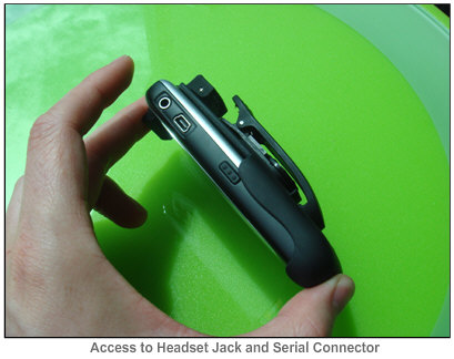 Seidio Rubberized Holster for Curve - side profile