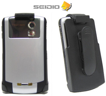 Seidio's Rubberized Spring Clip Swivel Holster for an Un-Skinned BlackBerry 8300 Curve