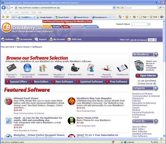 CrackBerry.com Software Store