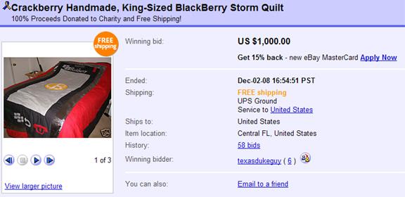 BlackBerry Storm Quilt!