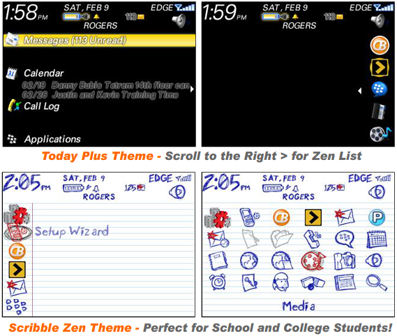 Today Plus Theme and Scribble Theme