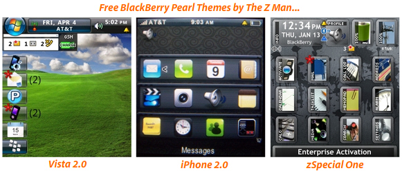 Free BlackBerry Pearl Themes by The Z Man