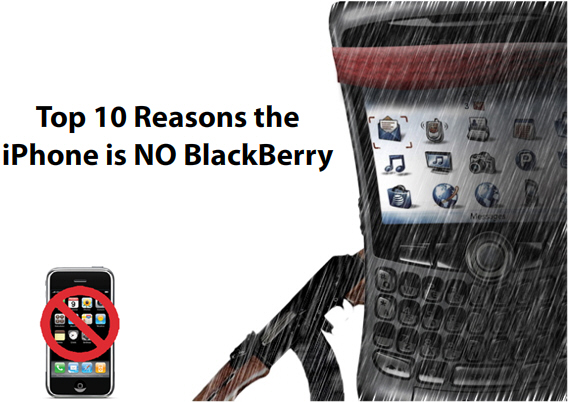 Top 10 Reasons the iPhone is No BlackBerry
