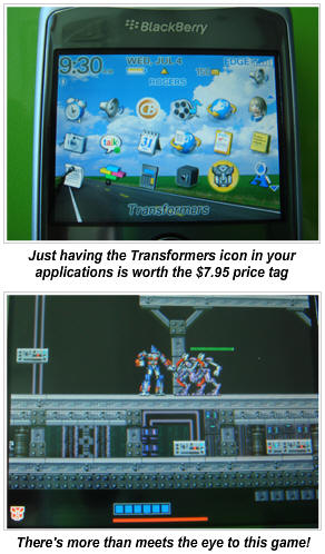 Transformers Game for your BlackBerry