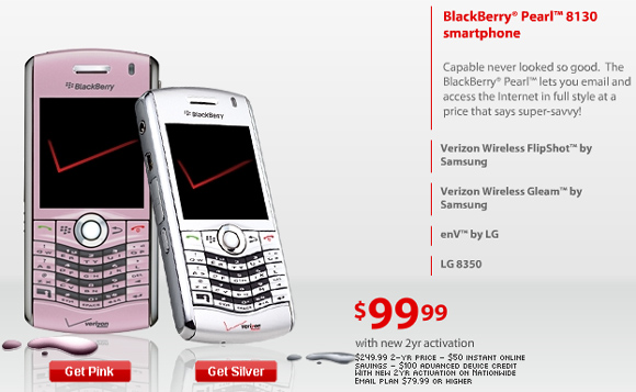 Verizon Pink Pearl