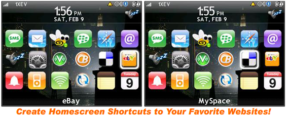 BlackBerry Web Shortcuts