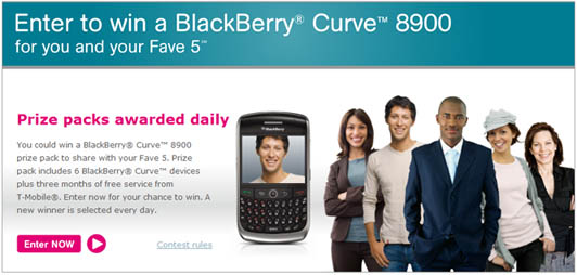BlackBerry Curve 8900 Giveaway