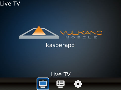 Vulkano launch screen