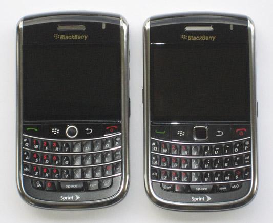 BlackBerry Bold 9650 Front View Comparison