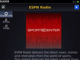 Slacker Radio ESPN
