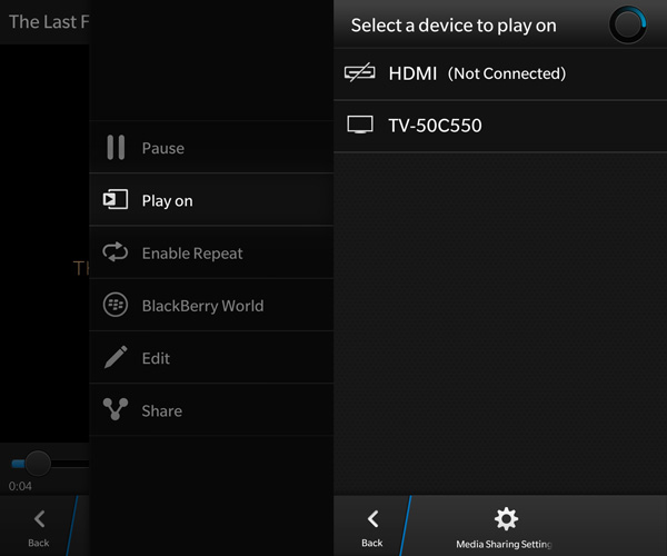 BlackBerry 10 DLNA