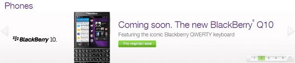 TELUS BlackBerry Q10 pre-registration