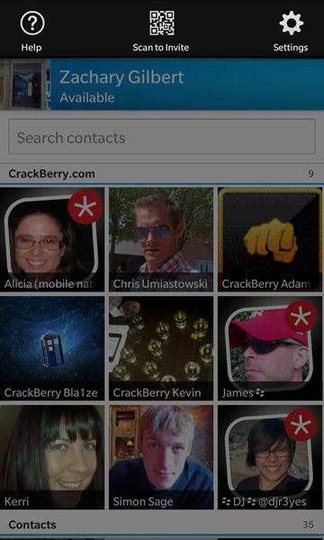 BBM for BlackBerry 10 settings